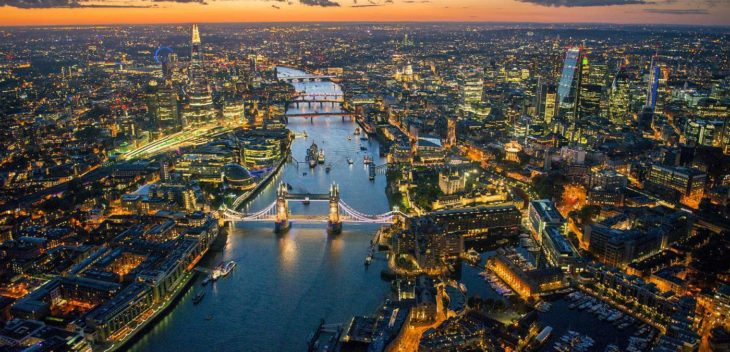 Top View of london places